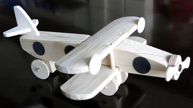 dřevěné letadýlko